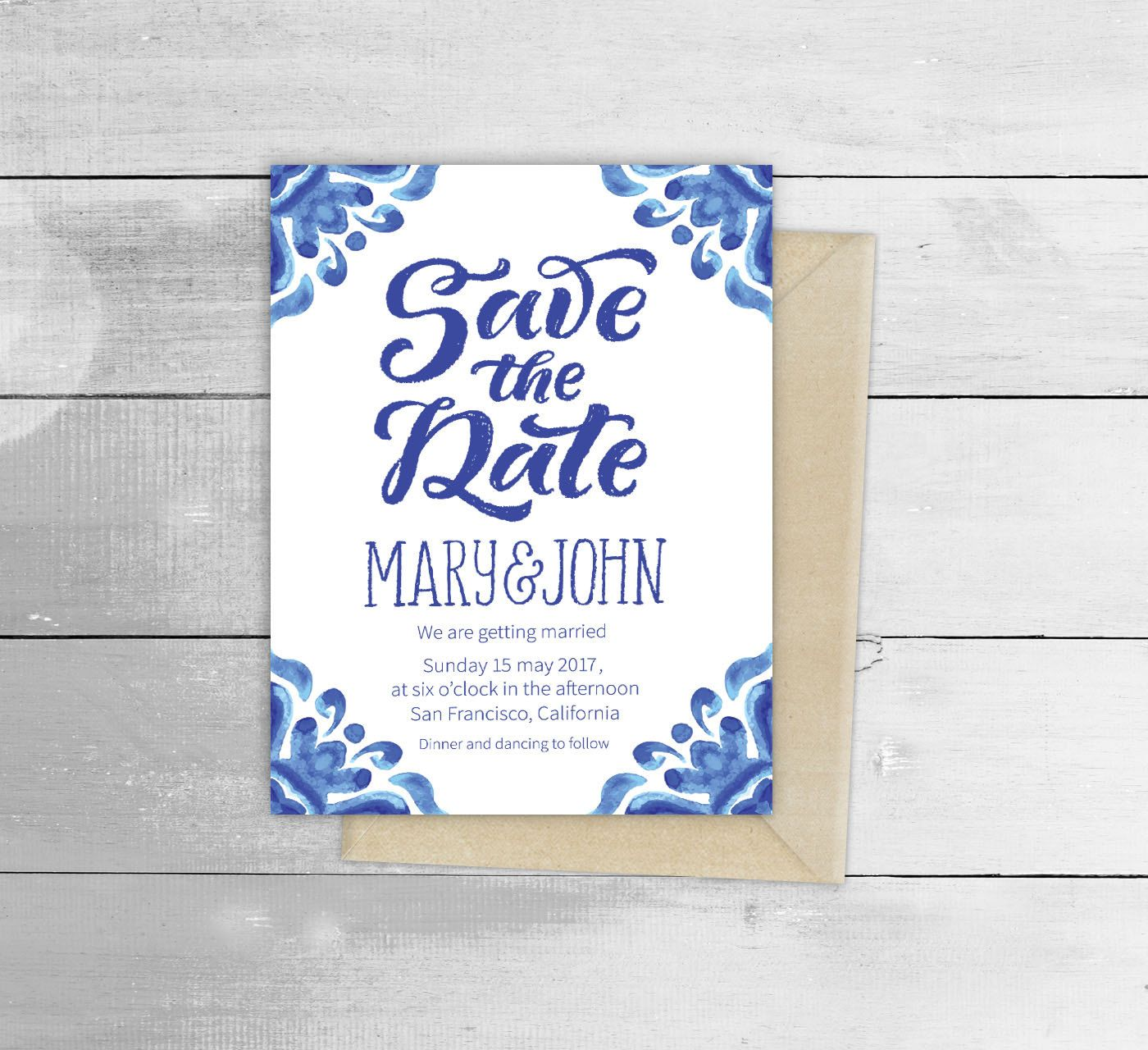 Image result for portuguese tile wedding invitations | Rustic ...