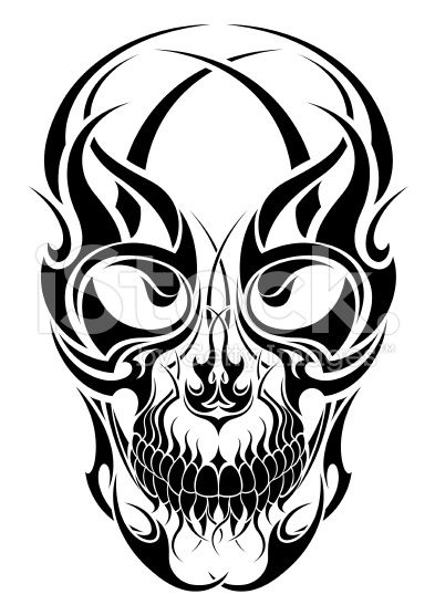 Tattoo Tribal Skull Tribal Tattoos Skulls Drawing