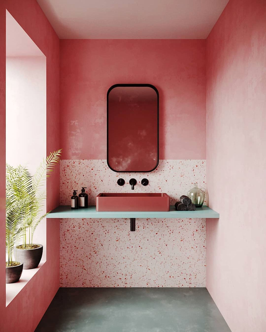 P O P Of Colour Pink Terrazzo Concrete What S Not To Love Image Via Elledecoration N Bathroom Trends Bathroom Interior Bathroom Inspiration