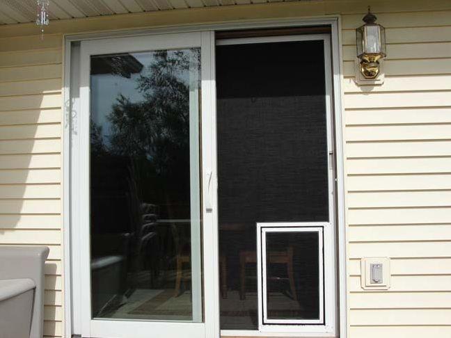 Pet Door For Sliding Screen Door Home Doors Design Inspiration