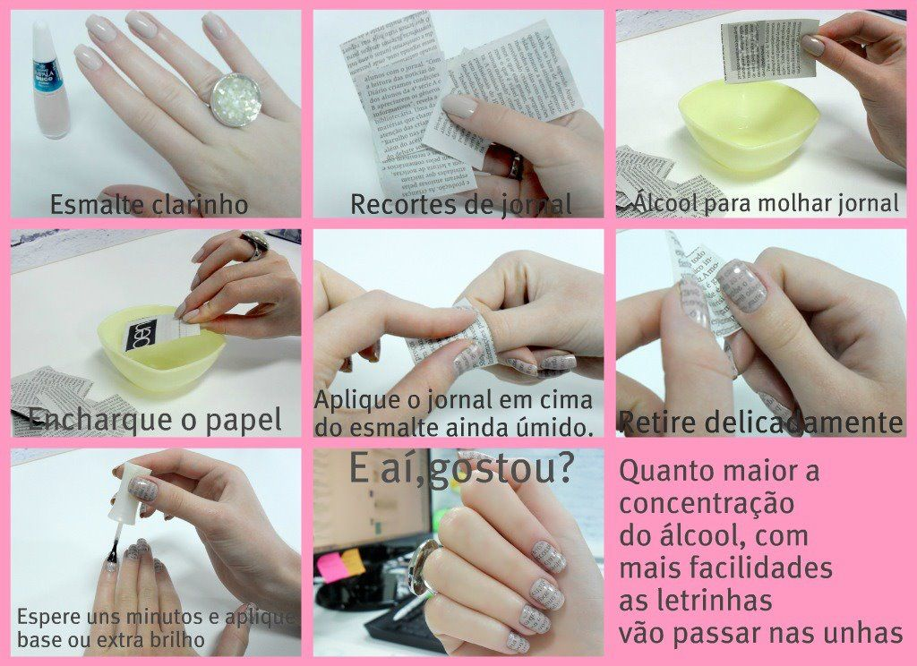 Paper Nails - Step by Step sooo cool i will have to try | Nail help ...