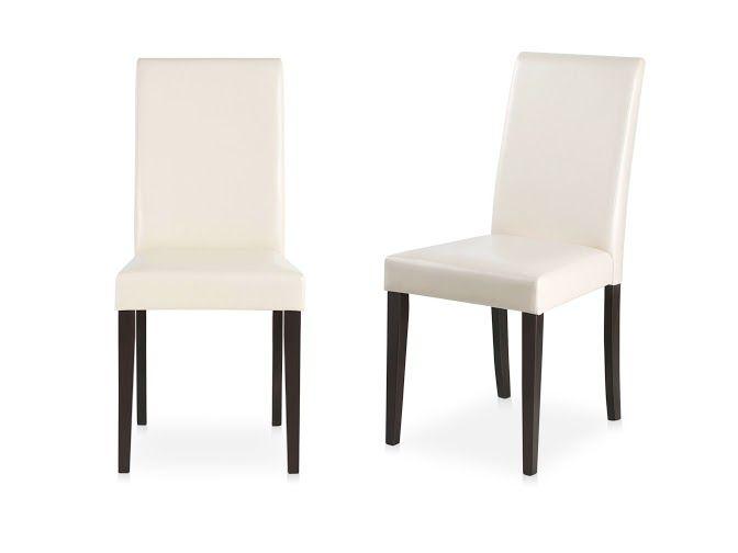 Stilvolle 2er Stuhle In Creme Und Havana Gestell Aus Kiefer Massiv Sitz Und Rucken Gepolstert Aus Kunstleder Sitzhohe Ca 47 Cm Pflegeleichtes Material Med Billeder