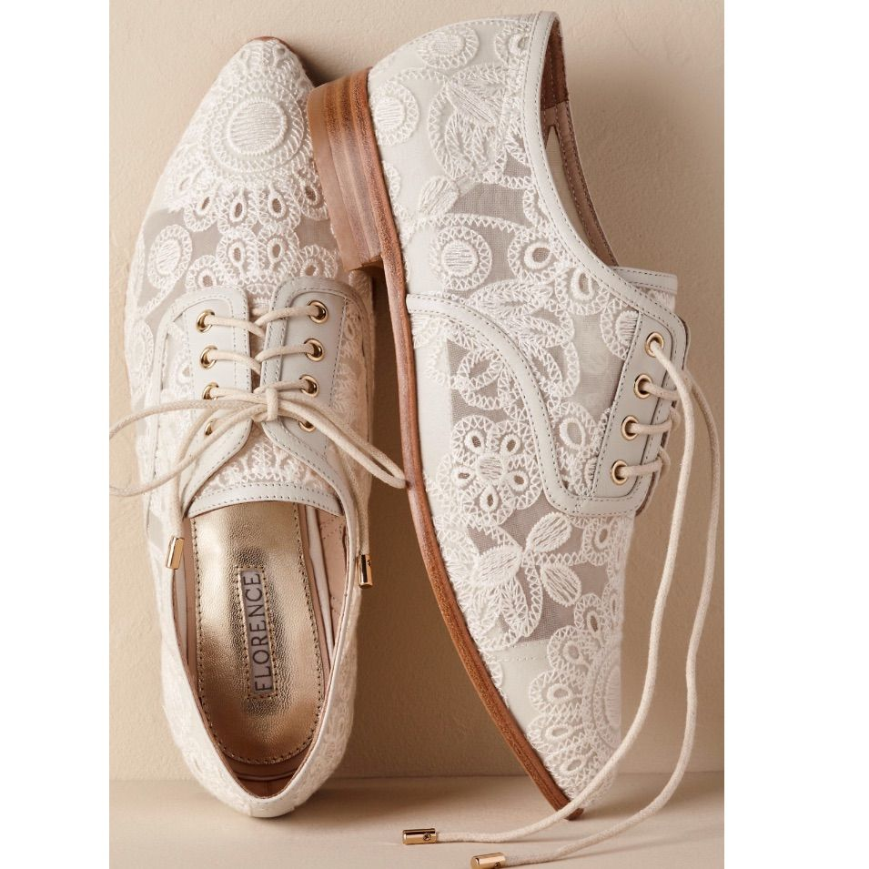 NEW Anthro BHLDN Agnes Lace Oxfords