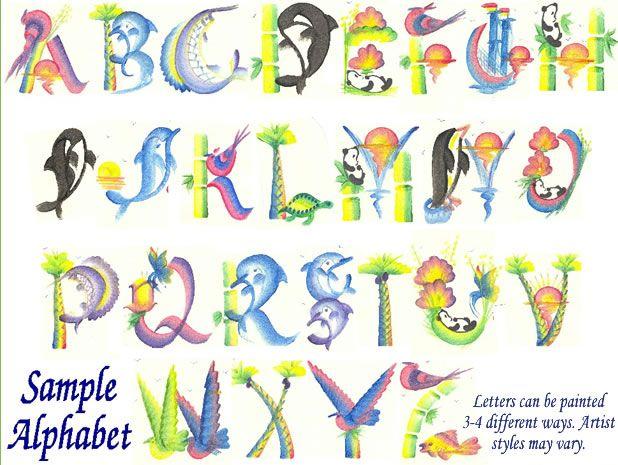 Oriental Names Chinese Letters Chinese Writing Letter Brush Art Alphabet Alphabet Art Name Paintings Lettering Alphabet