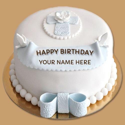 Print Custom Name On Best Wishes Birthday Cake