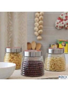 Buy Roxx New Cascade 3 Pcs Storage Jar Set Red 527038 Online At