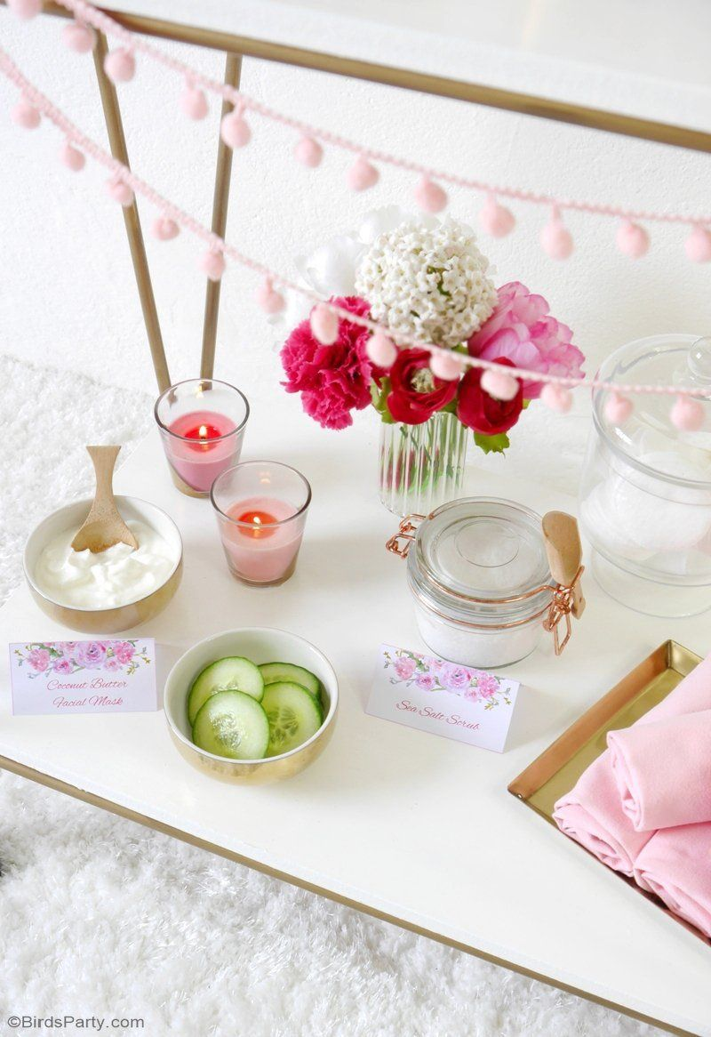A Relaxing Home Spa Party for Mother\'s Day | Spa party