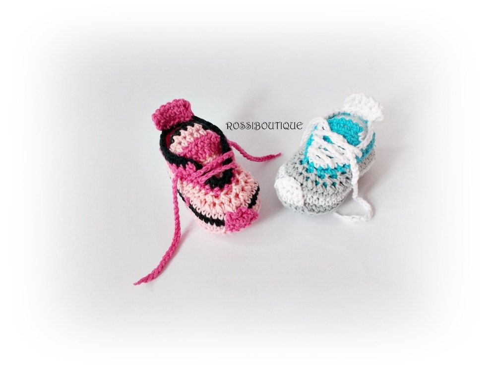 Crochet baby sneakers Baby Converse Baby boy girl sneakers Newborn ...