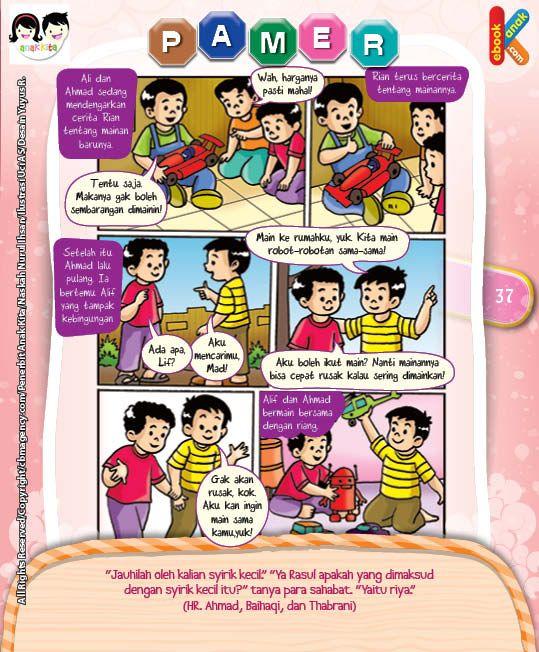 Komik Hadits Riya Termasuk Syirik Kecil Disiplin Anak Buku Anak Komik Anak
