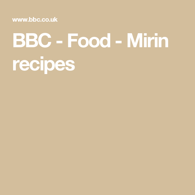 BBC - Food - Mirin recipes
