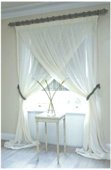 Pair 2 panels unlined semi sheer white linen curtains ROD POCKET curtains custom made drapes solid white panels