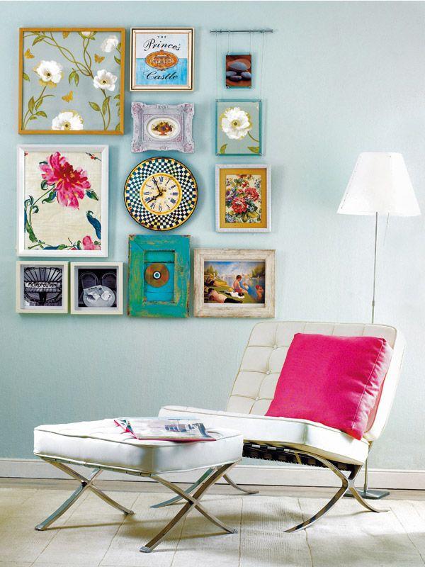Cuadros originales - Ideas ganar espacio - Decoracion facil - Ideas para ganar espacio, decoracion facil, reciclaje de muebles - CASADIEZ.ES