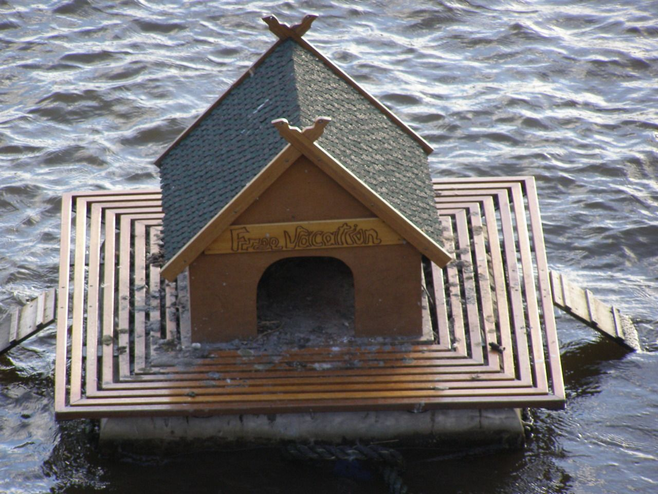 duck house just the right deck treatment avian. Black Bedroom Furniture Sets. Home Design Ideas