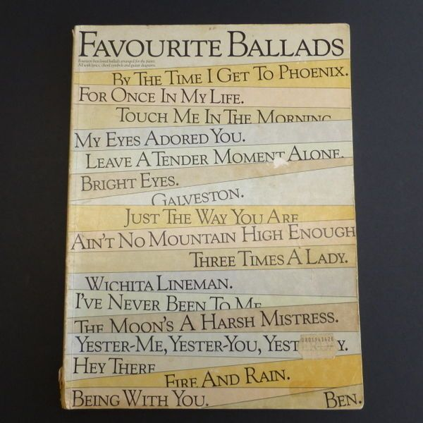 Vintage Used Favourite Ballads Fourteen Best Loved Ballads Arranged