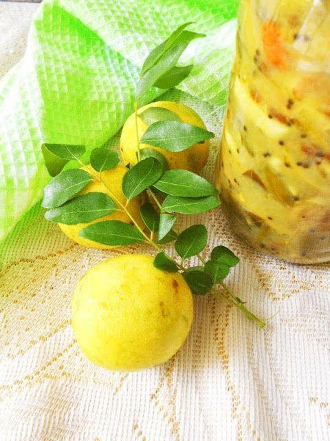 Cooking Is Easy: Lemon Pickle/Vella Naranga Achar (Kerala Style)