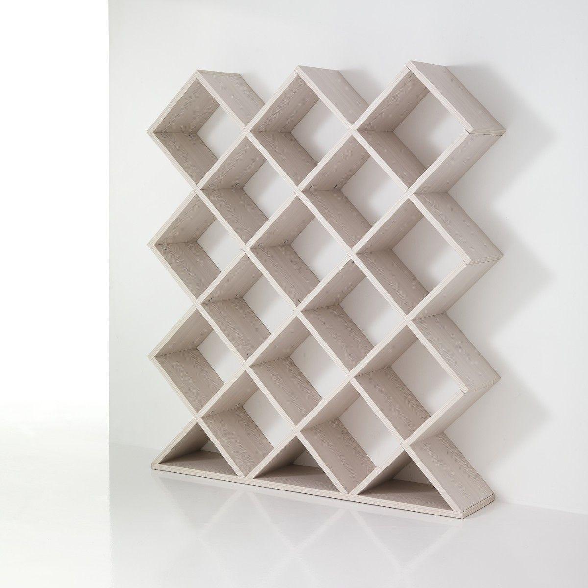 Libreria divisoria MyNest a nido d\'ape in legno 140 x 160 cm ...