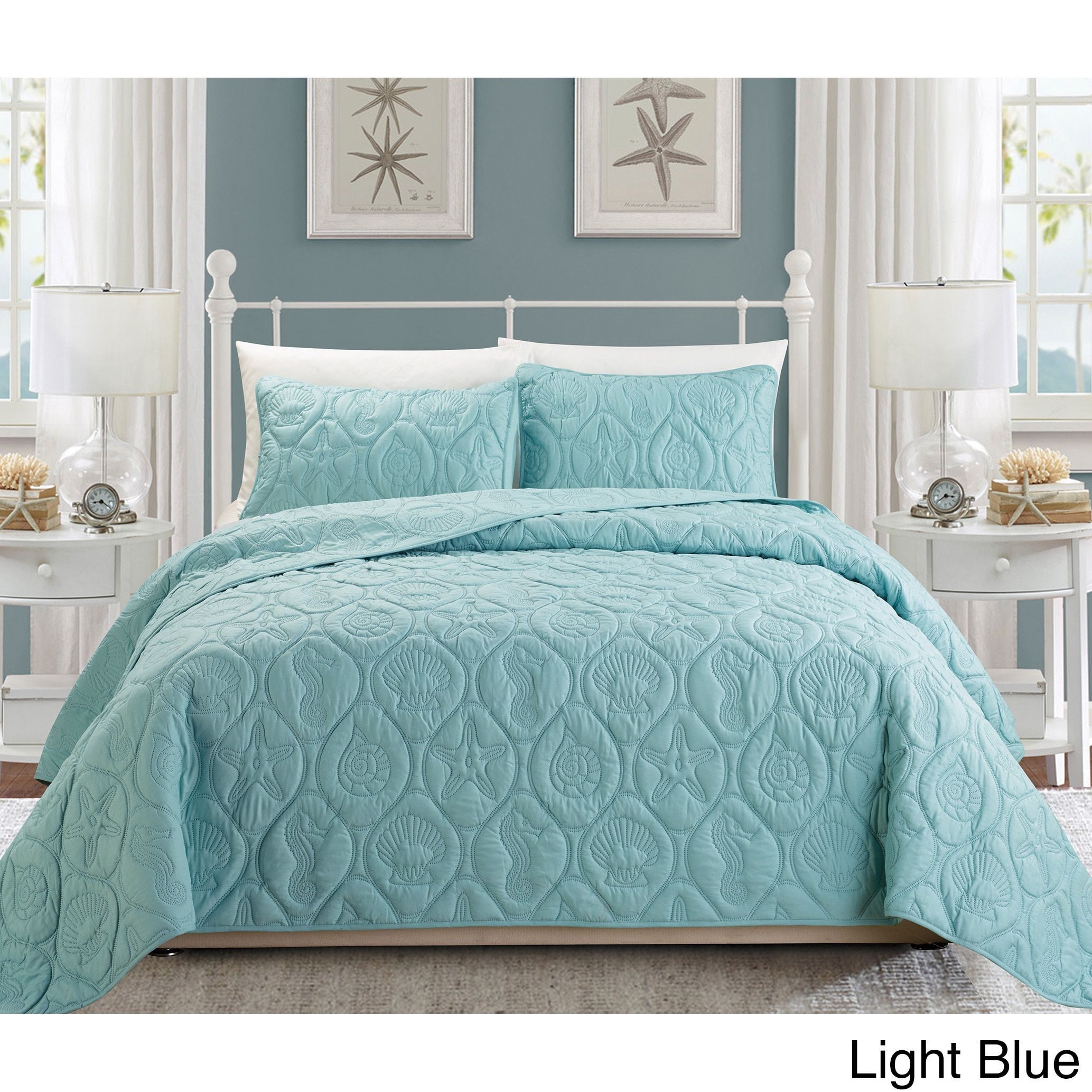 EverRouge Coral 3 piece Bedspread Set Products