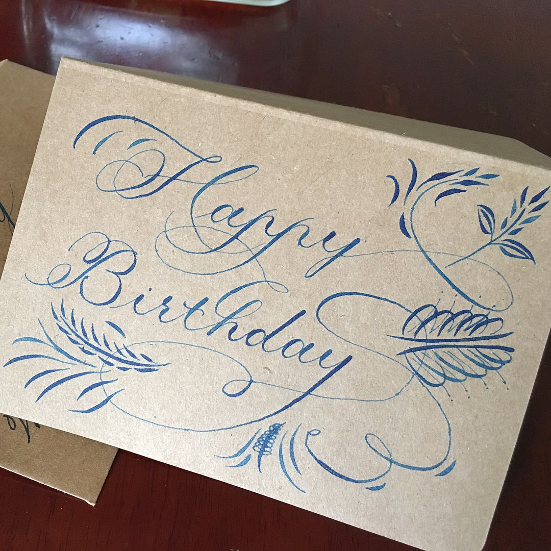 Copperplate Happy Birthday With Images