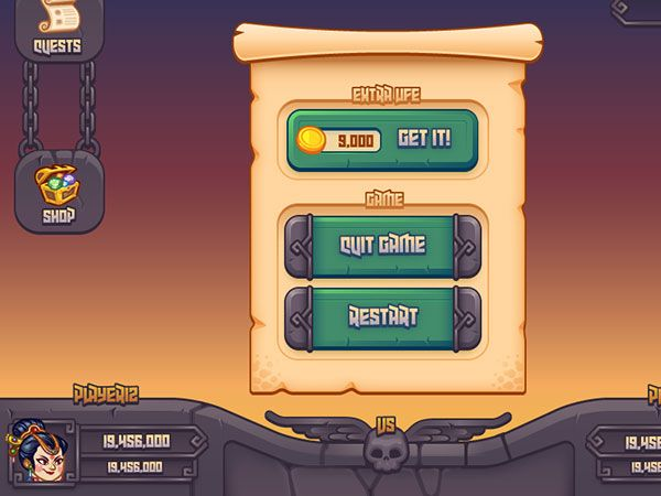 UI Design Examples From Mobile Games Game UI Pinterest Game - Game ui design