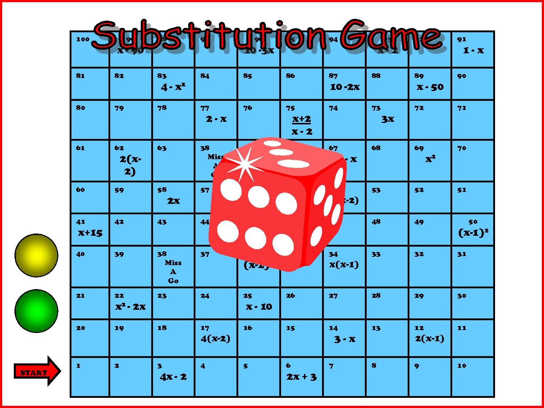 Printable Maths Board Game Template
