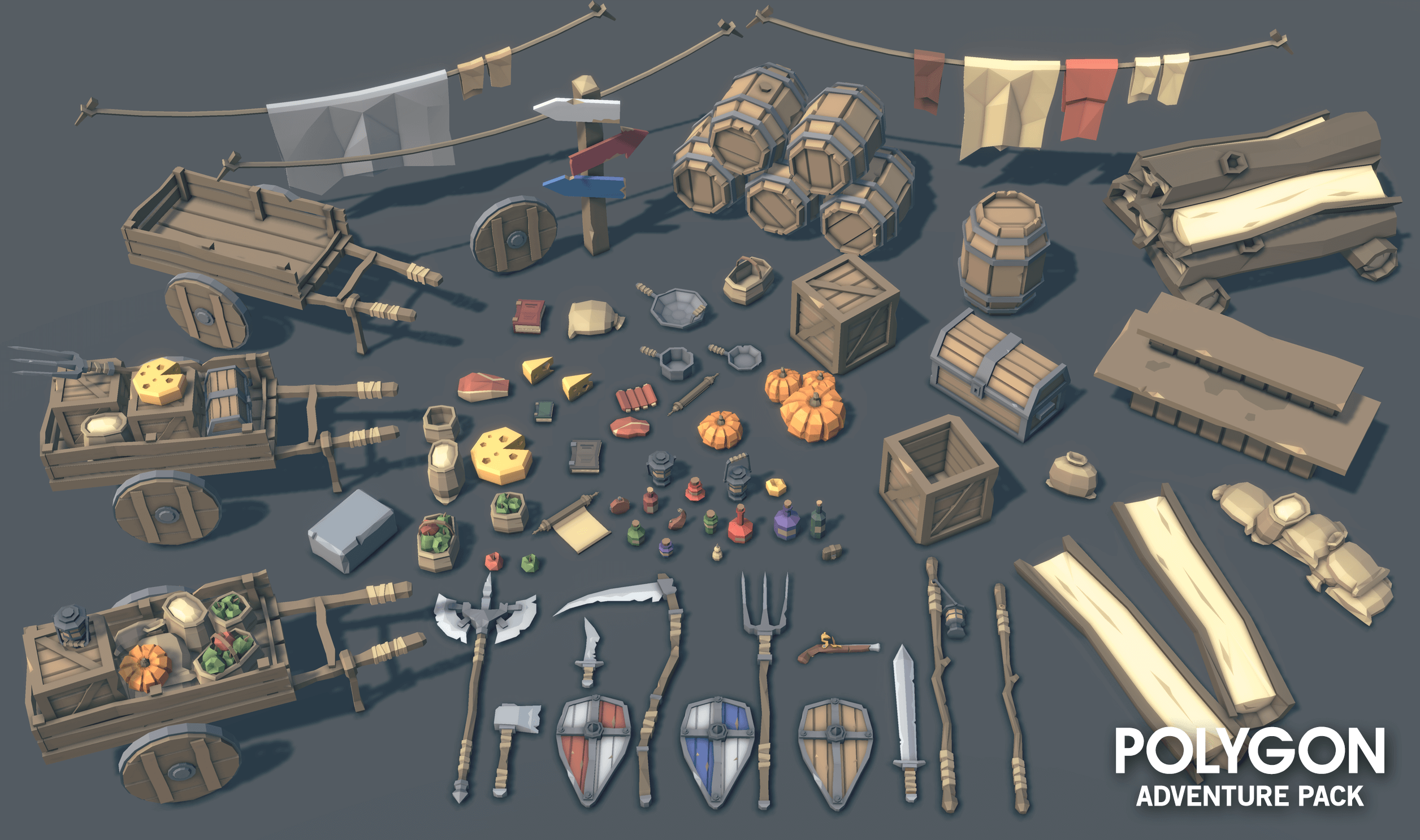 POLYGON Adventure Pack by Synty Studios in Environments