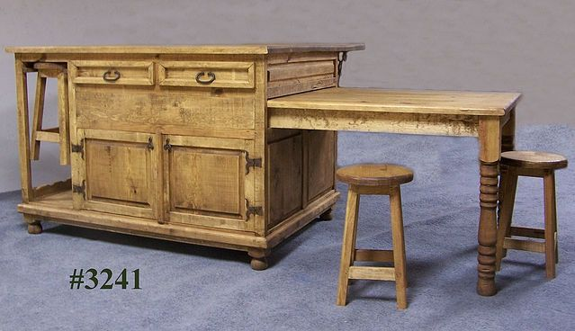 Bigass Kitchen Island For My New House Rustic Pine Furniture Pine Furniture Sliding Table