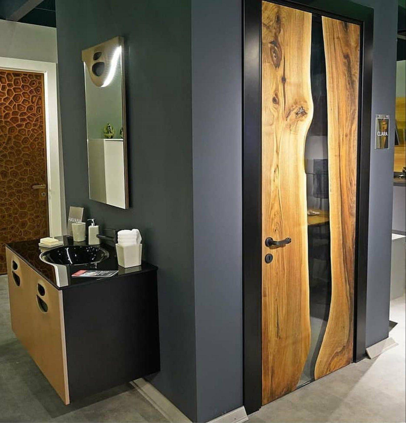 Epoxy Door Resin Door Recalmed Door Custom Made For Evan In 2020 Epoxy Resin Wood Door Makeover Resin Furniture
