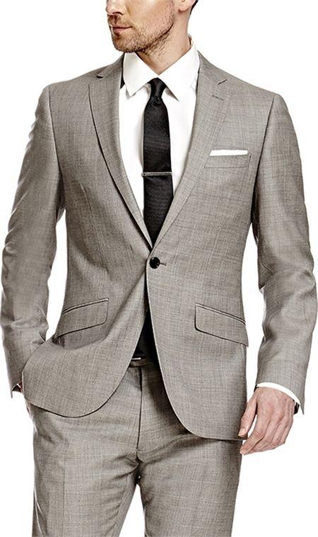 6deff2634e71c Men's Grey Twill Extra Slim Fit Suit - Super 120s Wool | Modern ...