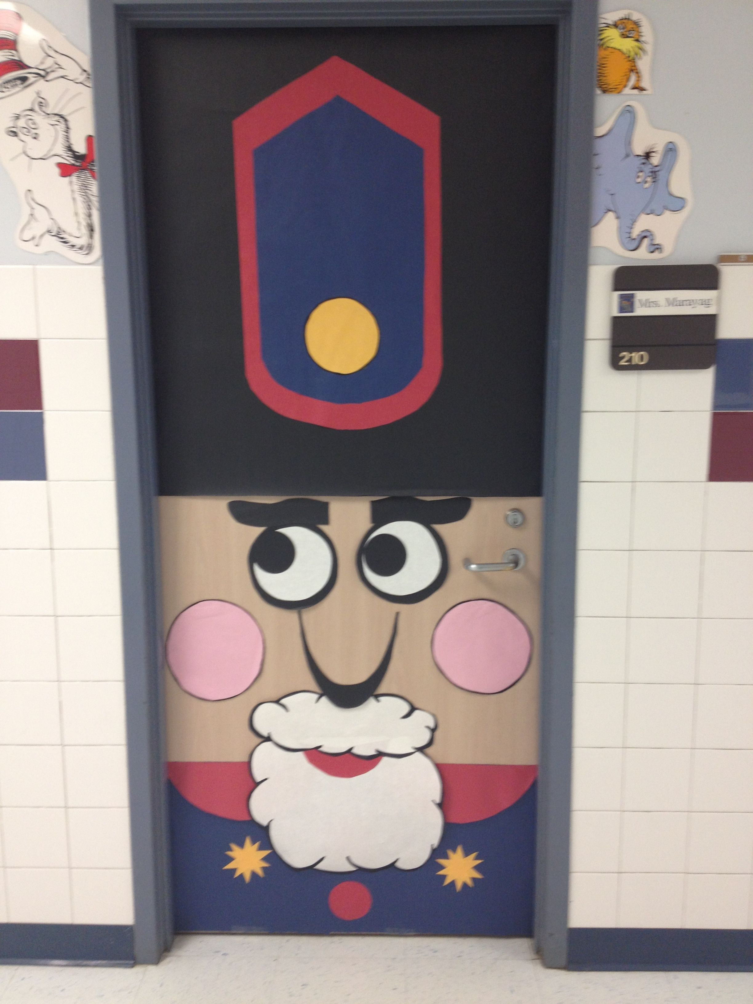 Nutcracker Door 1 Cloverleaf Teachers School Door