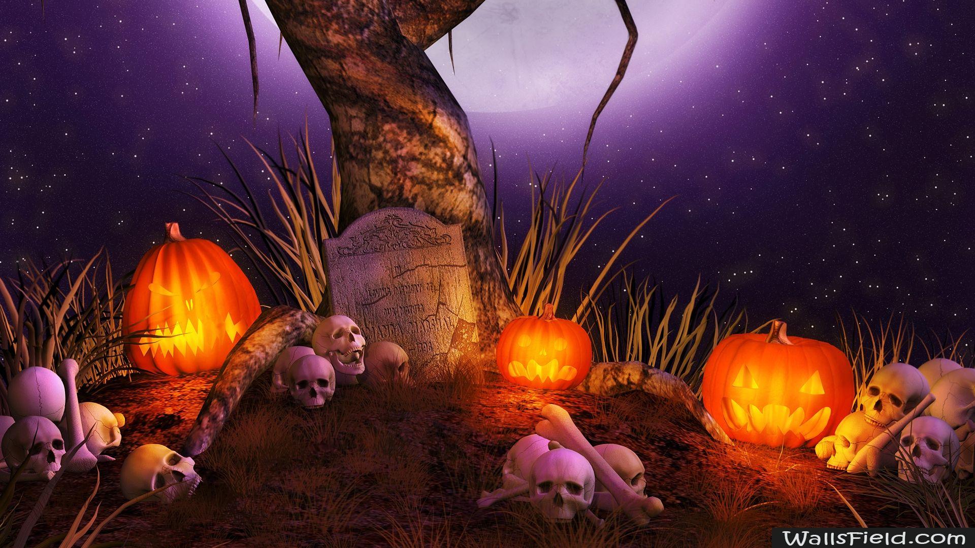 Cemetery Of Halloween Wallsfield Com Free Hd Wallpapers Halloween Facts Free Halloween Wallpaper Halloween Wallpaper