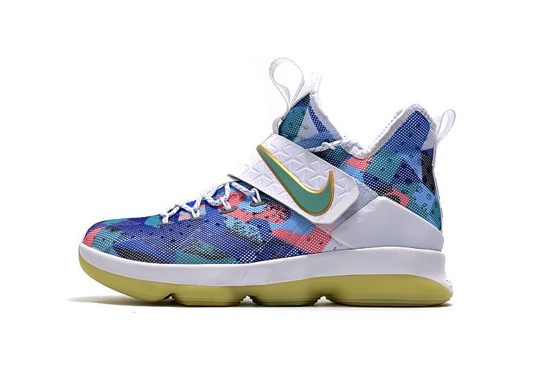 sale retailer 8b5c1 f9cdc 2017 2018 Lebron 14 XIV Floral Green Glow White Rio - Click Image to Close