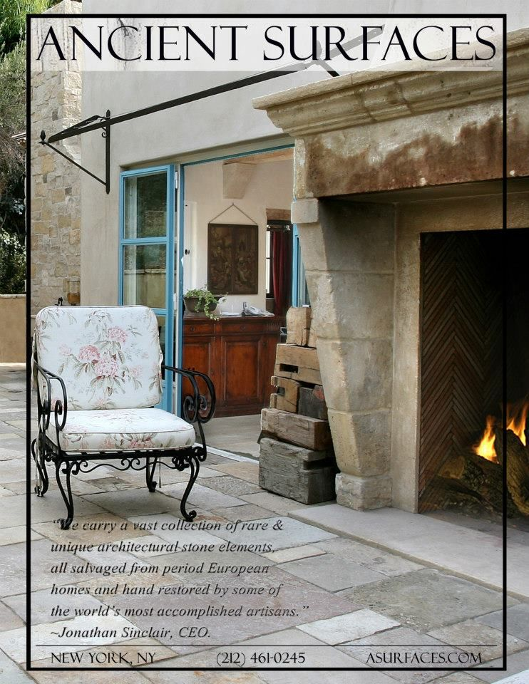 European Feel Walk In Fireplace Thin Brick Fireplace Surrounds Traditional Home Magazine European House Traditional House