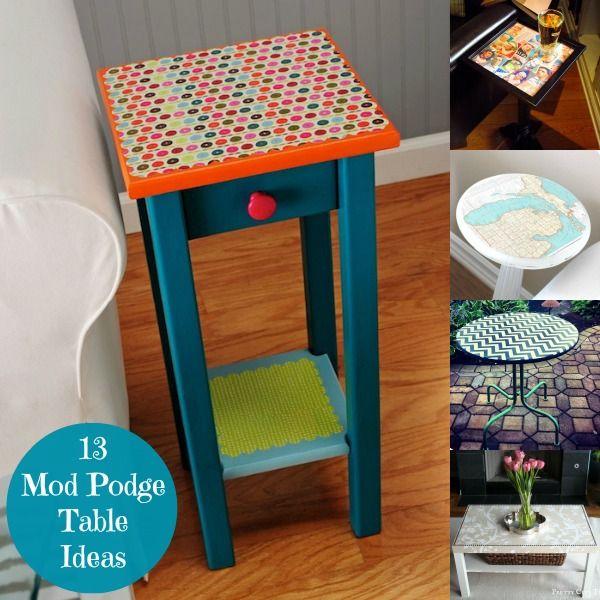 13 Mod Podge table ideas you\'ll love | Pinterest | Muebles ...