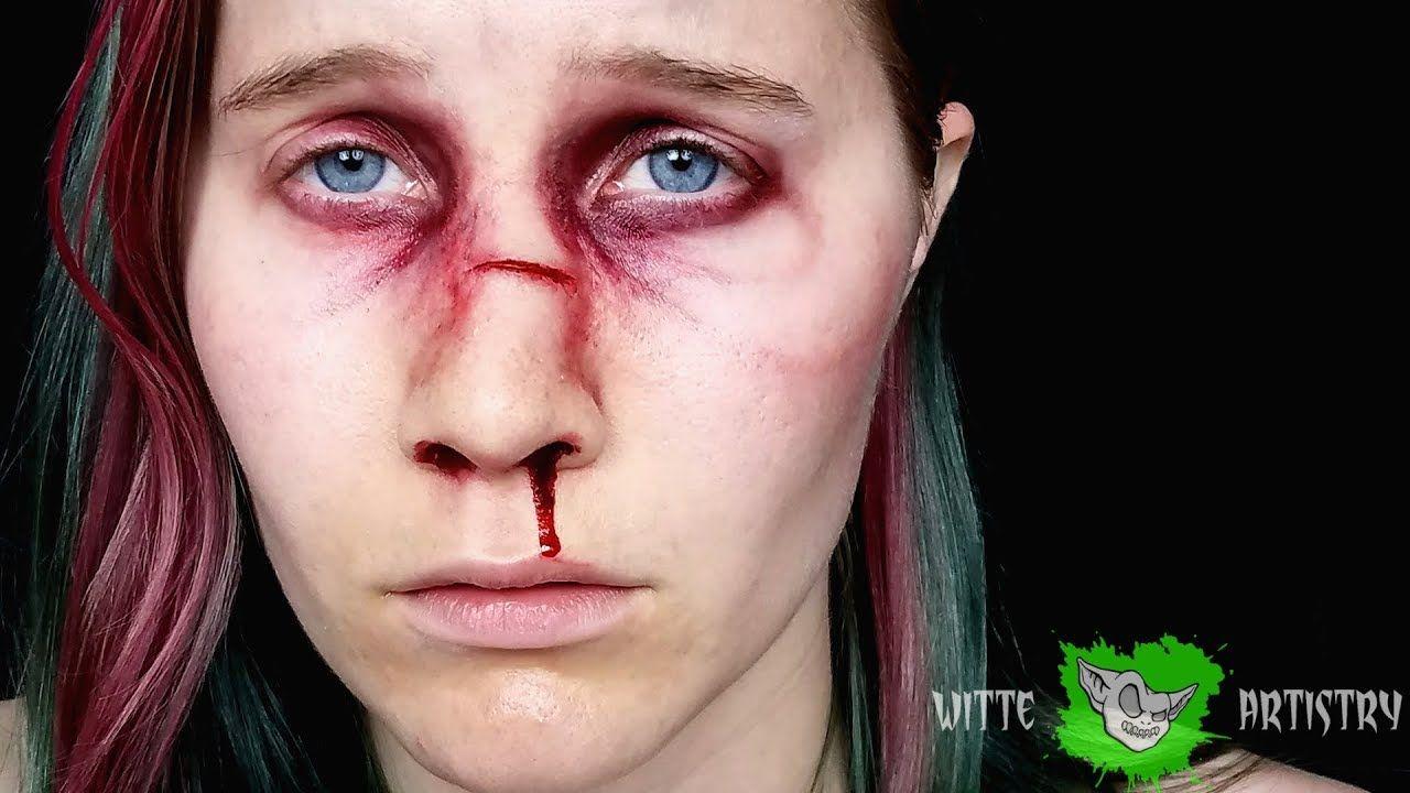 BROKEN NOSE/ Black Eye Makeup Tutorial Witte Artistry