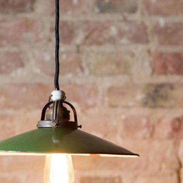 """Emaillelampe """"Grün"""". 130€"""