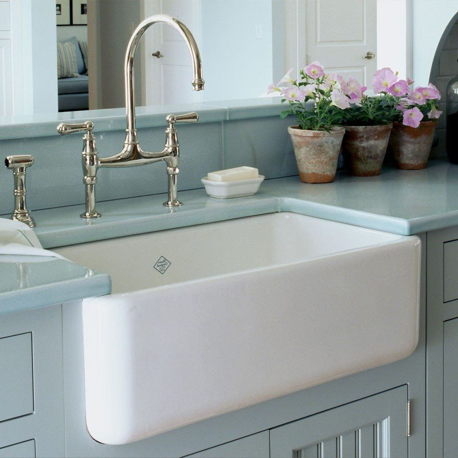 26 baldwin fireclay farmhouse sink decorative lip bathroom fixtures shaws lancaster single bowl farmhouse apron sink 30 in products