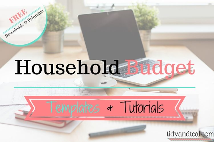 Free Household Budget Templates  Tutorials Household budget - Download Budget Spreadsheet