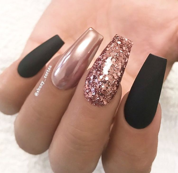 But Different Shape Gold Nail Designs Rose Gold Nails Design Rose Gold Nails