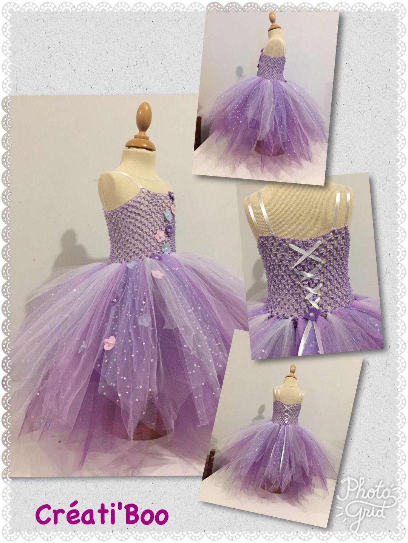 robe tutu robe de c r monie blanche mauve et violet mode b b par creati boo cr at boo. Black Bedroom Furniture Sets. Home Design Ideas