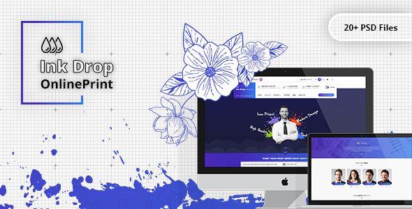 Ink drop online printing platform psd template psd templates ink drop online printing platform psd template maxwellsz