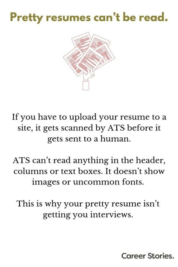 Pretty resumes can't be read - Resume, Reading, Words, Writing, How to look better, Texts - I know that pretty resumes look nice, but those only work when you email or physically hand them to someone  …