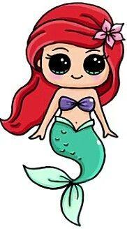 Little Mermaid Kawaii Dessin Kawaii Princesse Dessin