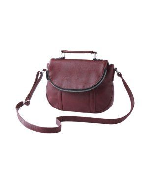 Cute burgundy handbag