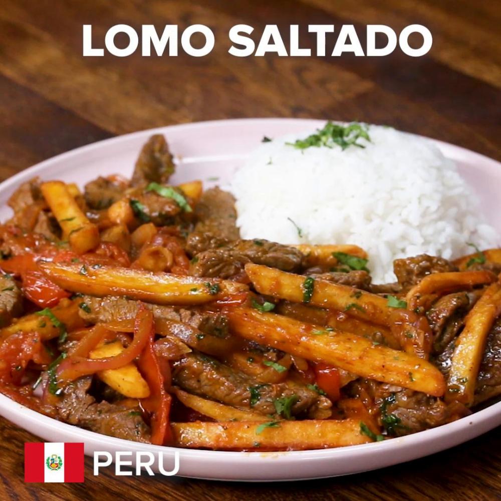 peruvian lomo saltado recipe peruvian recipes recipes peruvian dishes pinterest