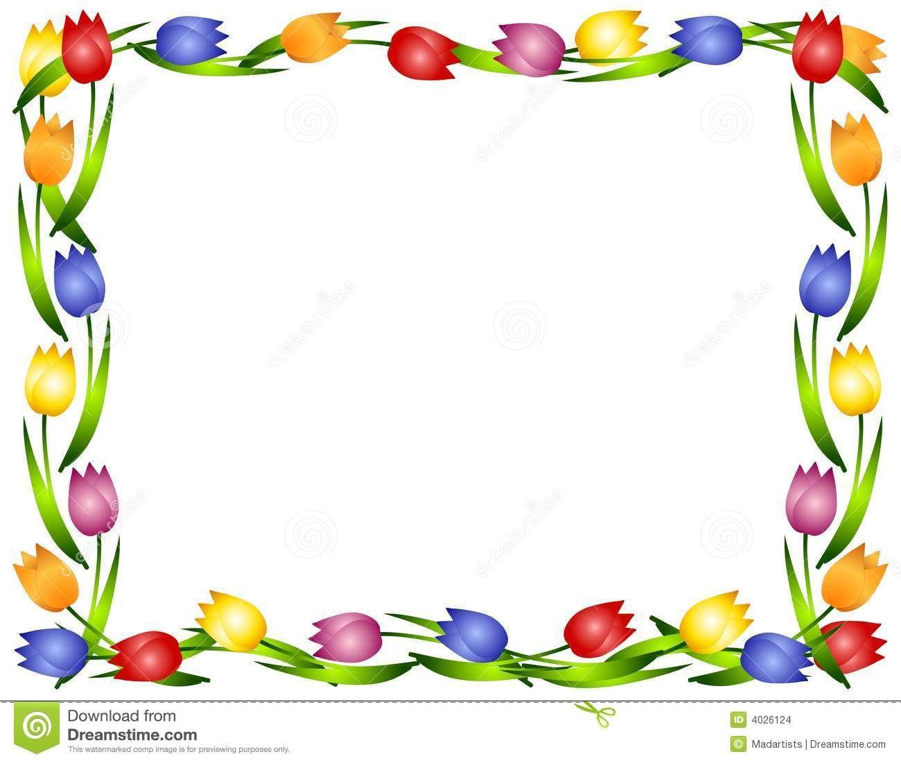 Flower+Border+Clip+Art | ... illustration featuring a frame or ...