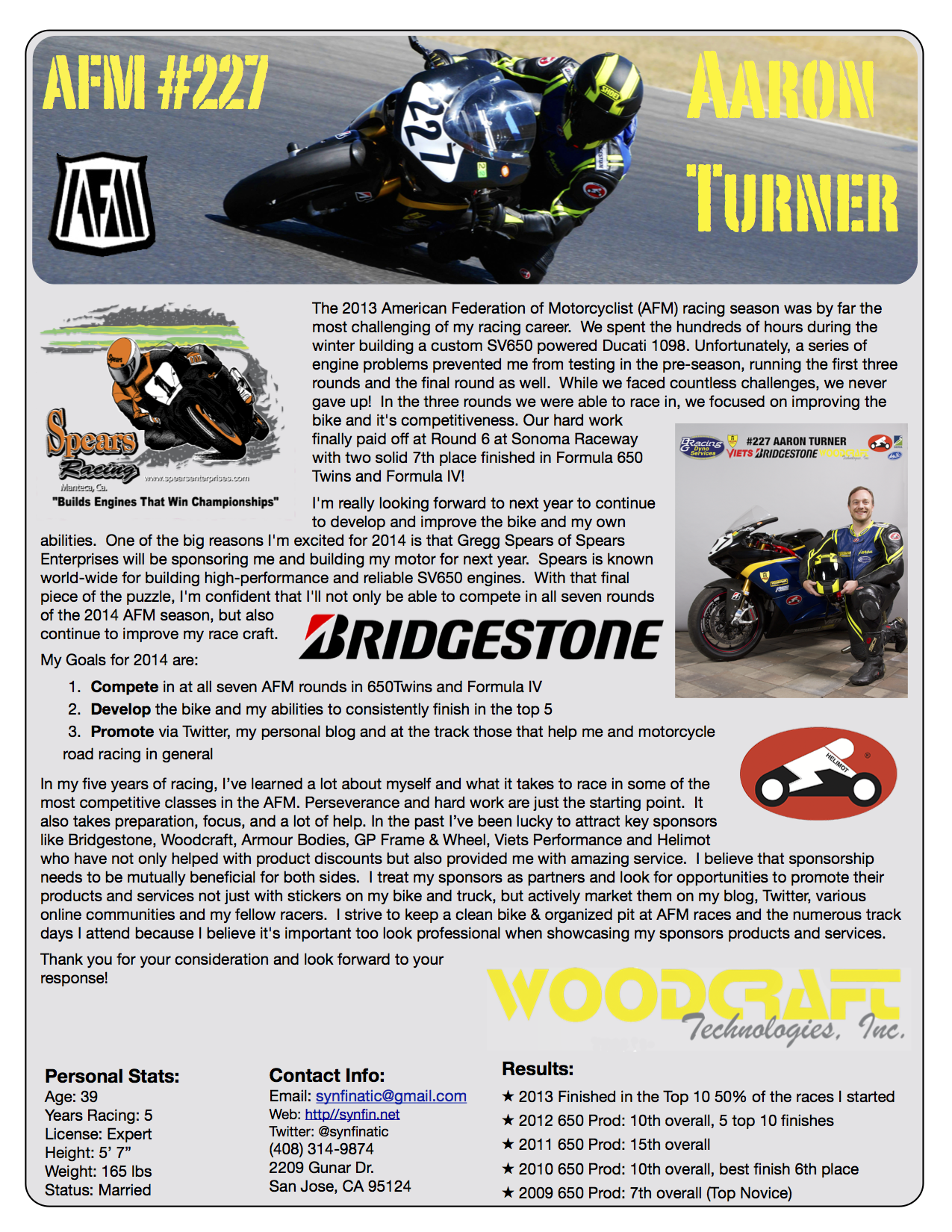 racer resume - Google Search | Race Resume Inspirations | Pinterest