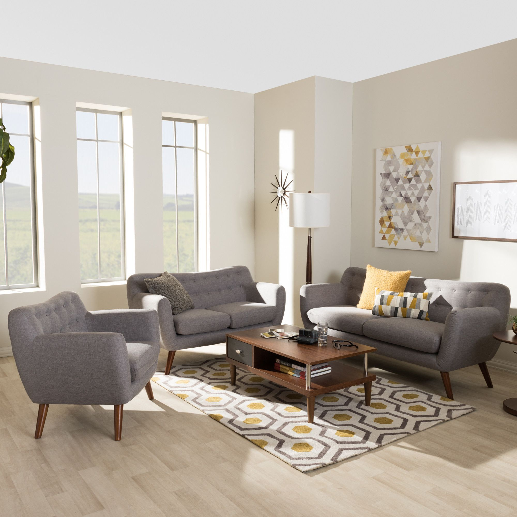 Bianca 3 Piece Living Room Set In 2019 Products 3