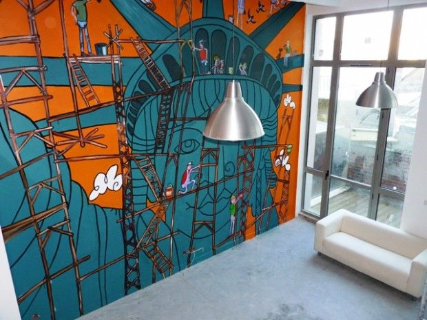 25 id es d co pour habiller un mur for the home pinterest decor ceiling et wall. Black Bedroom Furniture Sets. Home Design Ideas