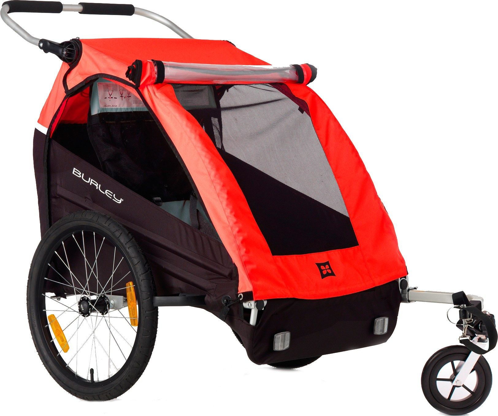 Burley Honey Bee Bike Trailer with Stroller Kit at