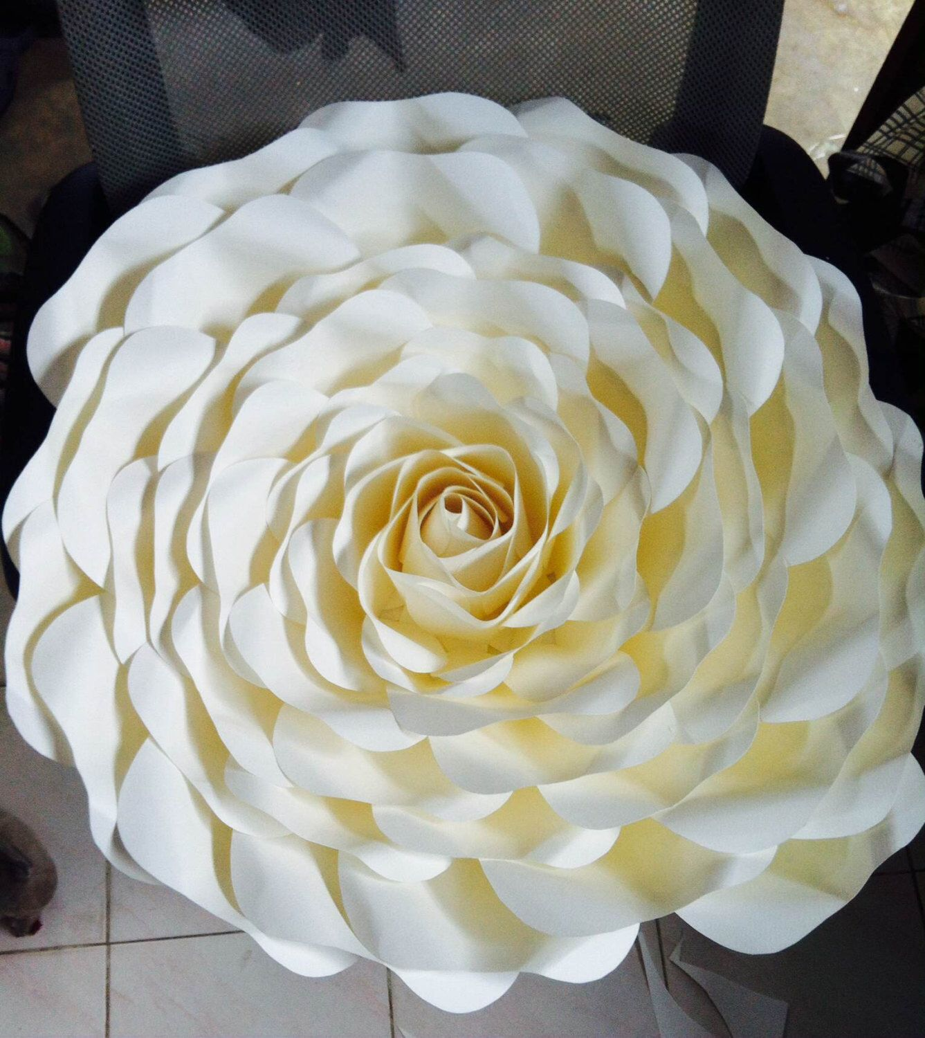 Huge Paper Flower For Placement On A Wall By Maneepaperart On Etsy